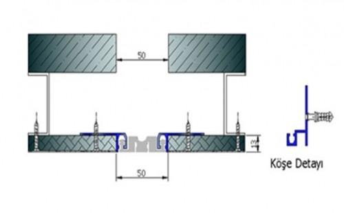 Profile pentru pereti si tavane pentru rost de 50 mm ARFEN - Poza 2