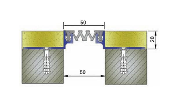 Profile pentru pereti si tavane pentru rost de 50 mm ARFEN - Poza 3