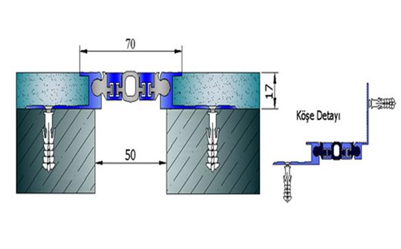 Profile pentru pereti si tavane pentru rost de 50 mm ARFEN - Poza 4