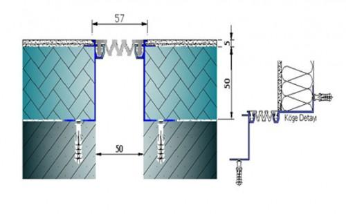 Profile pentru pereti si tavane pentru rost de 50 mm ARFEN - Poza 6