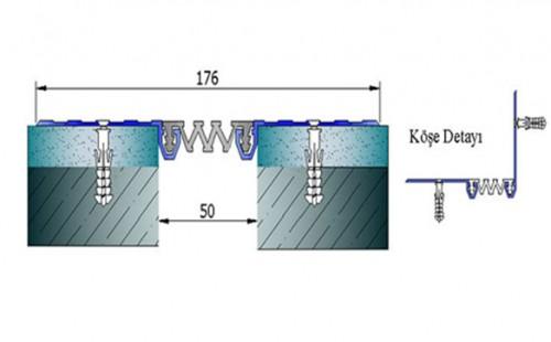 Profile pentru pereti si tavane pentru rost de 50 mm ARFEN - Poza 7