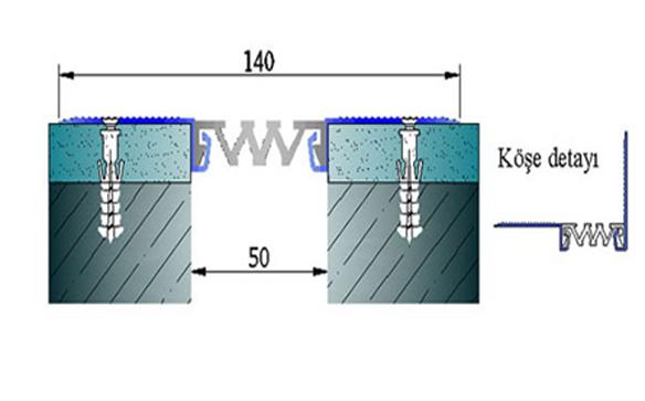 Profile pentru pereti si tavane pentru rost de 50 mm ARFEN - Poza 8