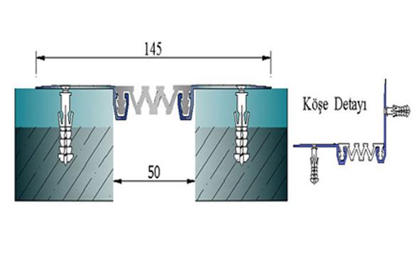 Profile pentru pereti si tavane pentru rost de 50 mm ARFEN - Poza 11