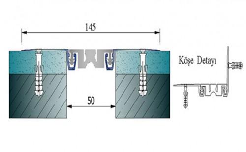 Profile pentru pereti si tavane pentru rost de 50 mm ARFEN - Poza 12
