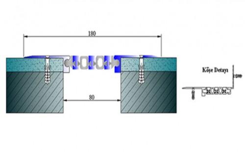 Profile pentru pereti si tavane pentru rost de 80 mm ARFEN - Poza 1