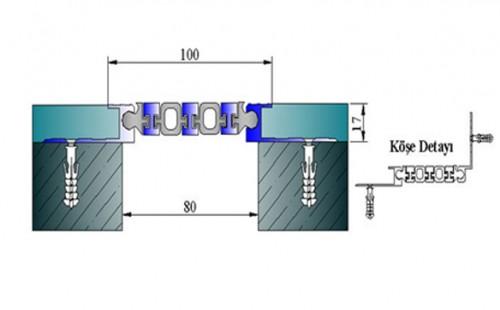 Profile pentru pereti si tavane pentru rost de 80 mm ARFEN - Poza 2