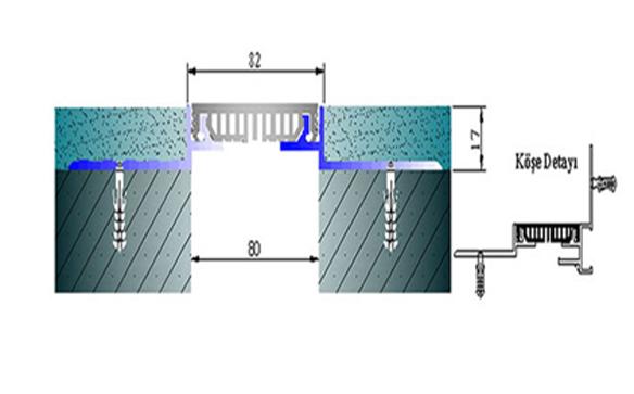 Profile pentru pereti si tavane pentru rost de 80 mm ARFEN - Poza 3