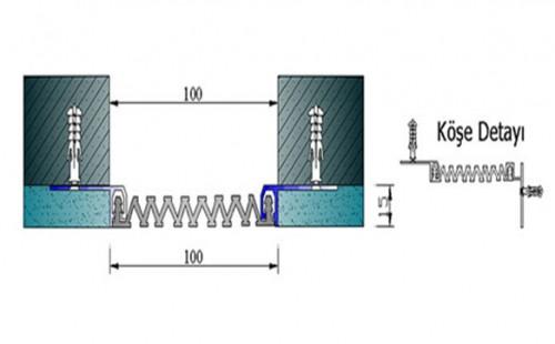 Profile pentru pereti si tavane pentru rost de 100 mm ARFEN - Poza 1