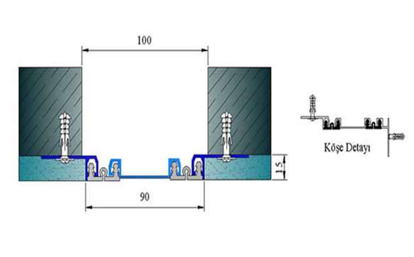 Profile pentru pereti si tavane pentru rost de 100 mm ARFEN - Poza 2