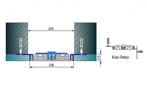 Profile pentru pereti si tavane pentru rost de 100 mm ARFEN - Poza 3