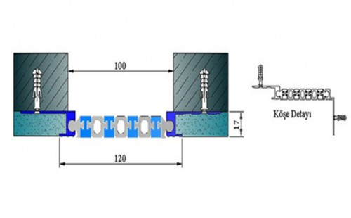 Profile pentru pereti si tavane pentru rost de 100 mm ARFEN - Poza 4