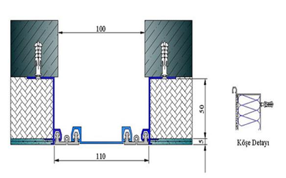 Profile pentru pereti si tavane pentru rost de 100 mm ARFEN - Poza 5