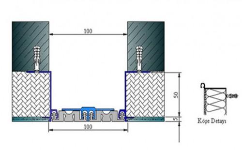 Profile pentru pereti si tavane pentru rost de 100 mm ARFEN - Poza 6