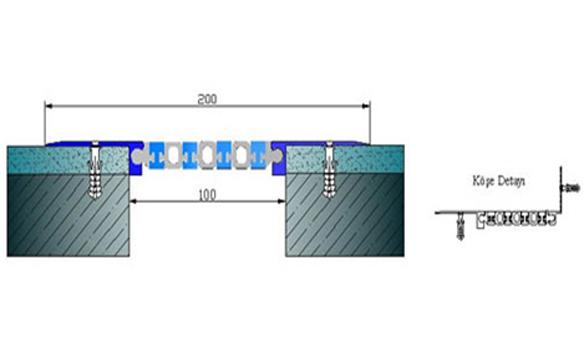 Profile pentru pereti si tavane pentru rost de 100 mm ARFEN - Poza 8