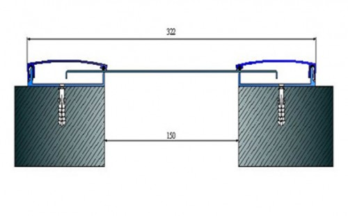 Profile pentru pereti si tavane pentru rost de 150 mm ARFEN - Poza 1