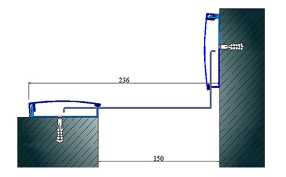 Profile pentru pereti si tavane pentru rost de 150 mm ARFEN - Poza 2