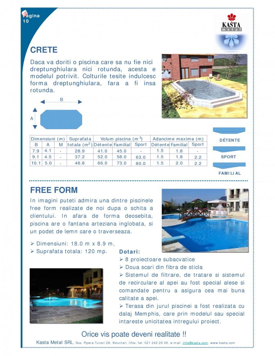 Pagina 1 - Piscine modulare KASTA METAL CRETE, FREE FORM Fisa tehnica Romana Pagina 10  CRETE Daca...