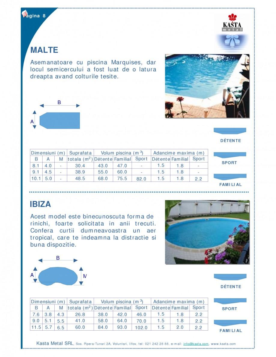 Pagina 1 - Piscine modulare KASTA METAL IBIZA, MALTE Fisa tehnica Romana Pagina 8  MALTE...