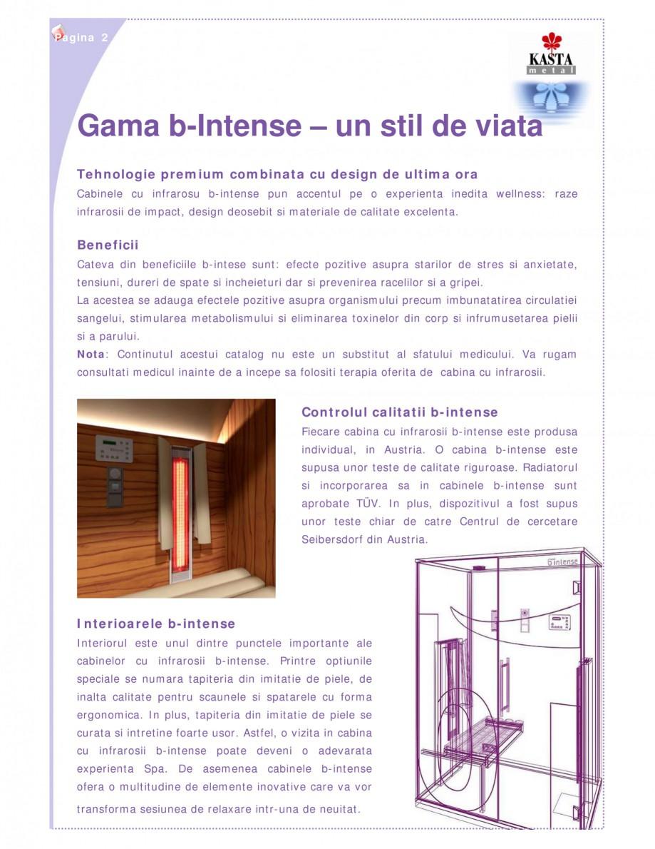 Pagina 2 - Cabine infrarosu KASTA METAL b-intense - bi Catalog, brosura Romana i. La acestea se...