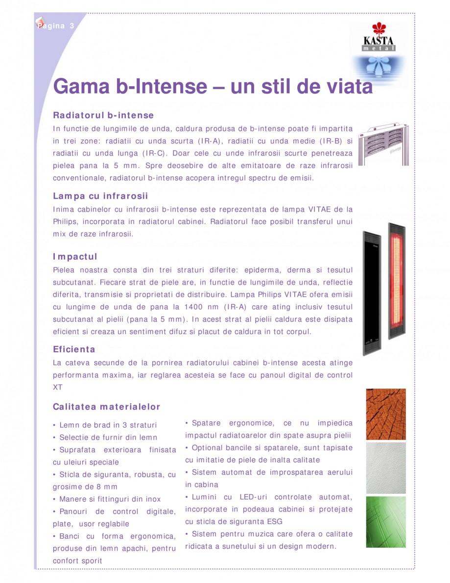 Pagina 3 - Cabine infrarosu KASTA METAL b-intense - bi Catalog, brosura Romana  din imitatie de...