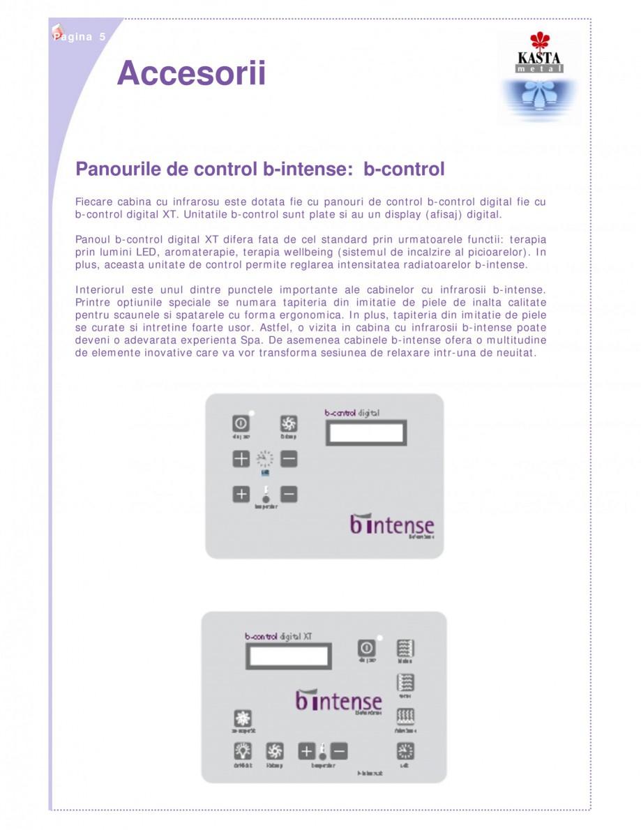 Pagina 5 - Cabine infrarosu KASTA METAL b-intense - bi Catalog, brosura Romana piedica impactul...