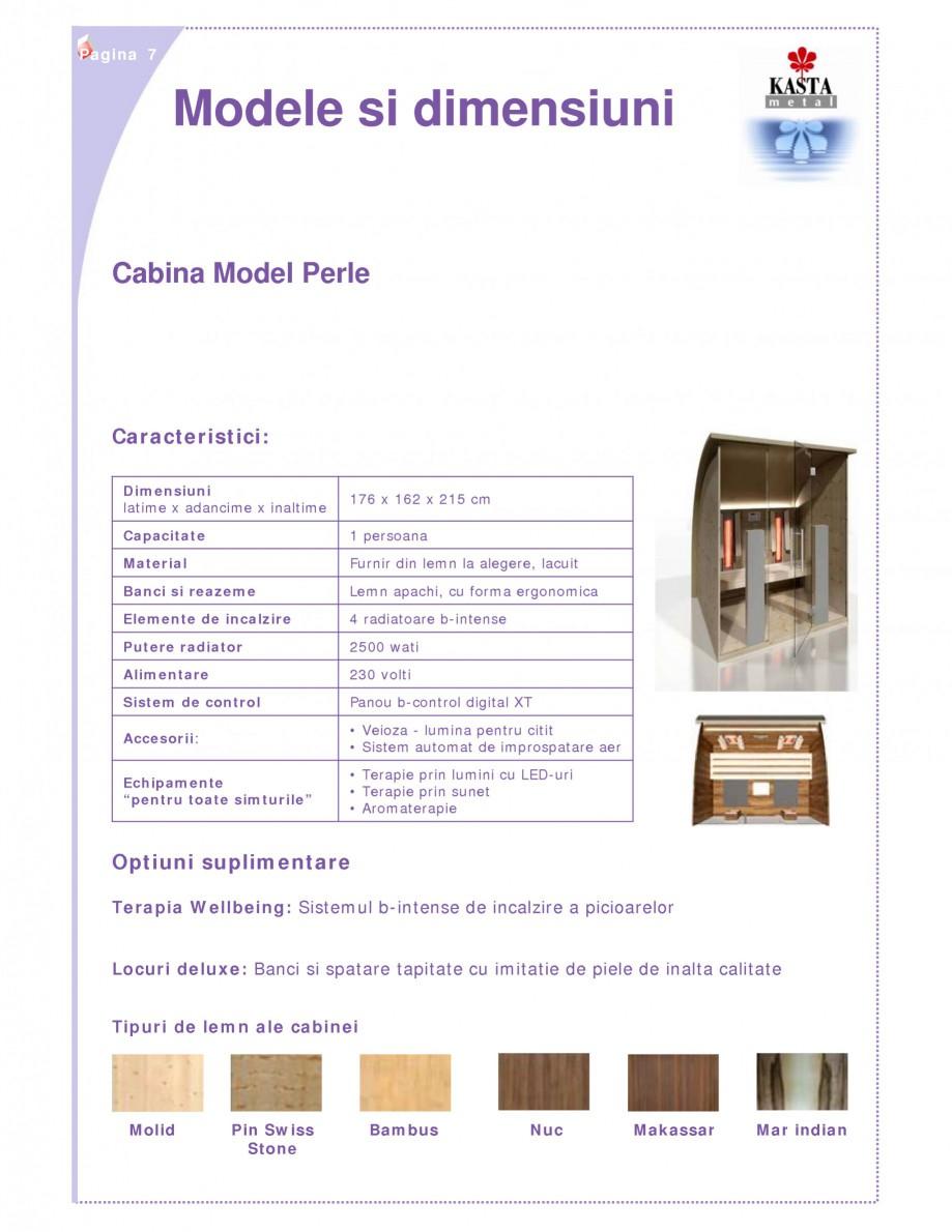Pagina 1 - Cabina de saune cu infrarosu KASTA METAL Perle Fisa tehnica Romana Pagina 7  Modele si...