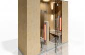 Cabine de saune cu infrarosu Cabina cu infrarosu se deosebeste de sauna prin faptul ca incalzirea corpului se face datorita razelor infrarosii in mod direct si nu datorita aerului cald din incinta.