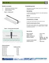 Profil standard pentru rosturi de dilatare BUCHBERGER