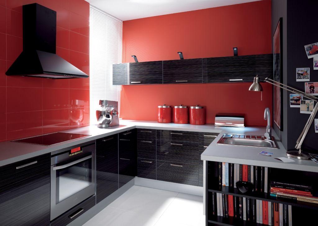 Mobilier bucatarii la comanda BLACK RED WHITE - Poza 1