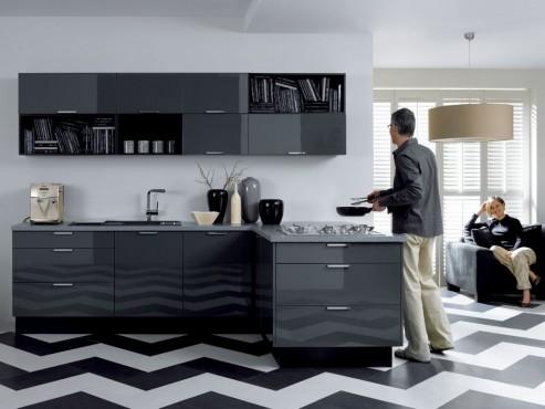 Exemple de utilizare Mobilier bucatarii la comanda BLACK RED WHITE - Poza 9