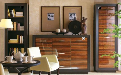 Mobilier living BLACK RED WHITE - Poza 2