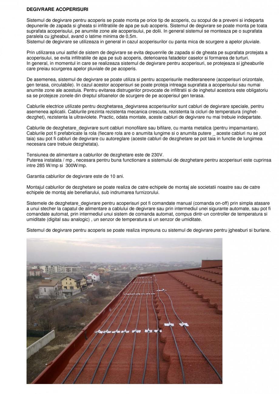 Pagina 1 - Sisteme de degivrare a acoperisurilor FENIX Degivrare acoperisuri Catalog, brosura Romana...