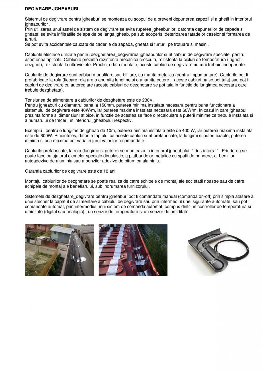 Pagina 1 - Sisteme de degivrare a jgheaburilor FENIX Degivrare jgheaburi Catalog, brosura Romana...