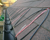 Instalatii de degivrare cu cabluri electrice rezistente UV