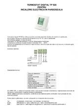 Termostat digital pentru incalzire electrica in pardoseala I-WARM