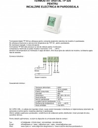 Termostat digital pentru incalzire electrica in pardoseala