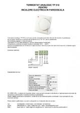 Termostat analogic pentru incalzire electrica in pardoseala I-WARM