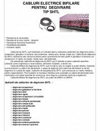 Cabluri electrice bifilare pentru degivrare