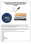 Cabluri electrice incalzitoare EBECO - NY