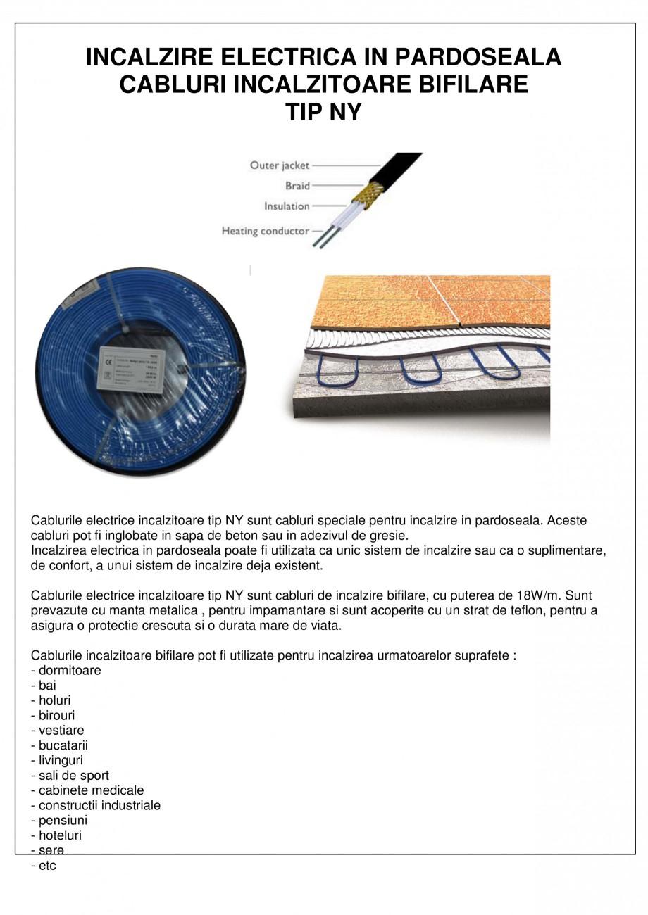 Pagina 1 - Cabluri electrice incalzitoare EBECO NY Fisa tehnica Romana INCALZIRE ELECTRICA IN...
