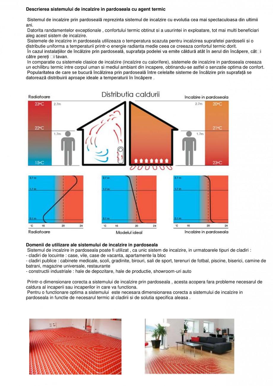 Pagina 1 - Sistem de incalzire in pardoseala cu agent termic CIPEC  Catalog, brosura Romana...