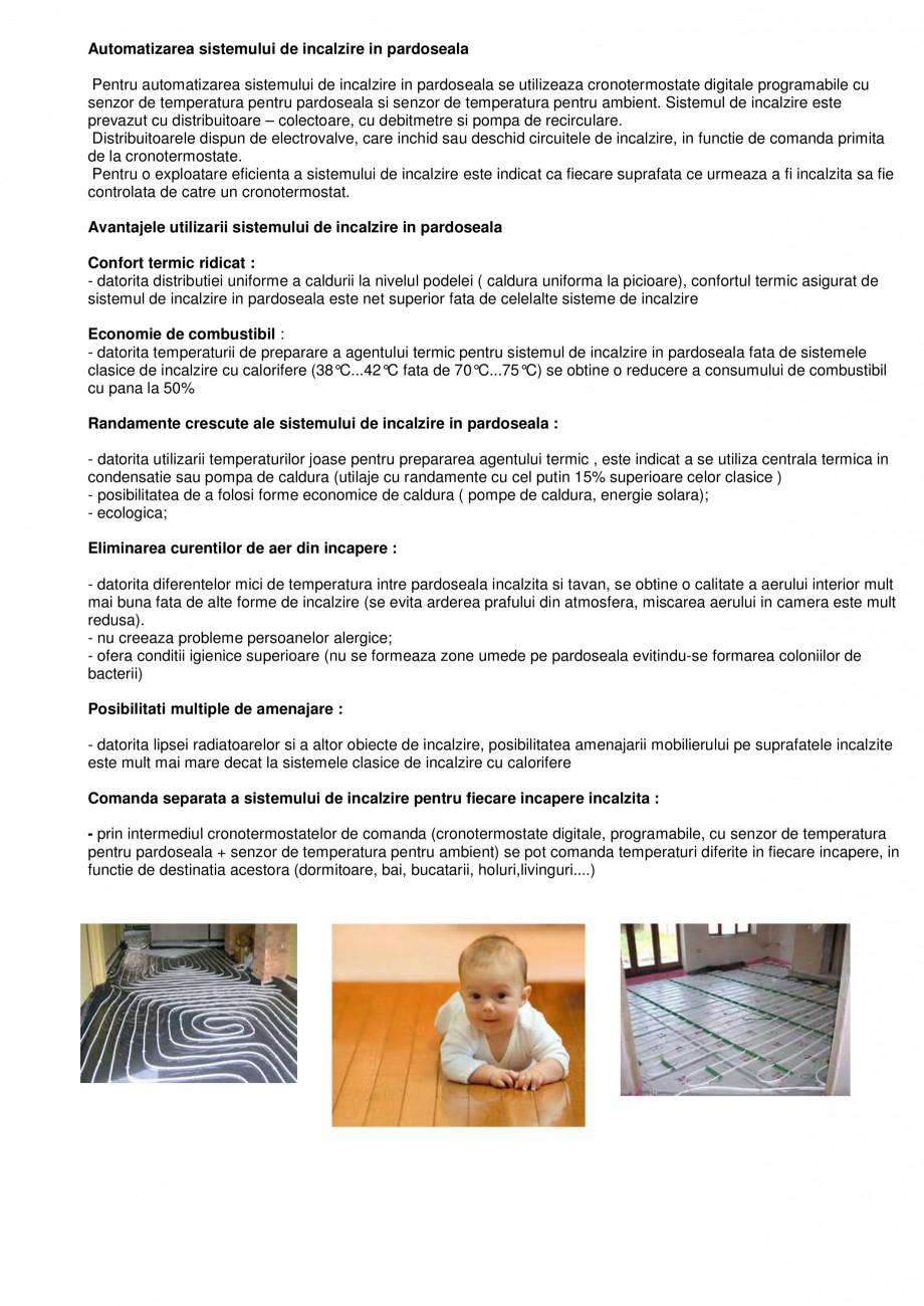 Pagina 2 - Sistem de incalzire in pardoseala cu agent termic CIPEC  Catalog, brosura Romana...