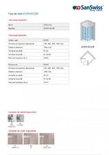 Cabina de dus ECP2+ECOF SAN SWISS