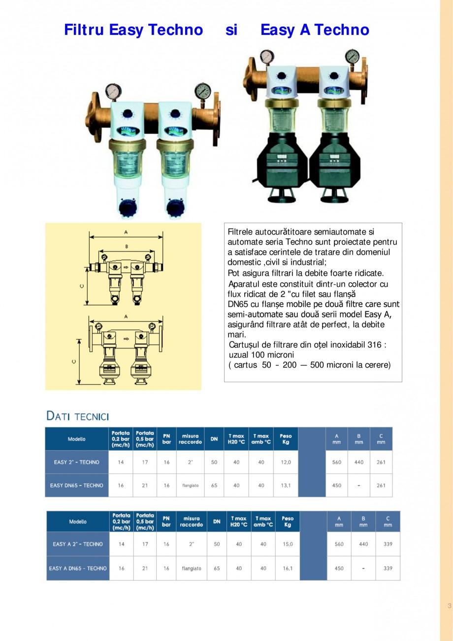 Pagina 3 - Filtre de apa pentru uz casnic si industrial NOBEL EASY A, EASY TECHNO, EASY A TECHNO,...