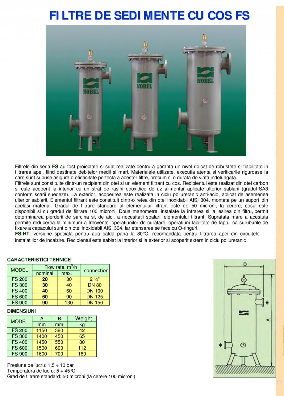 Pagina 11 - Filtre de apa pentru uz casnic si industrial NOBEL FTA 070, FTA 050 Fisa tehnica Romana ...