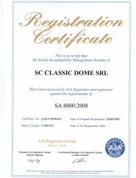 Certificat SA 8000:2008