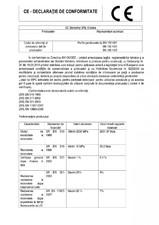 Declaratie de conformitate placi material compozit WPC BENCOMP