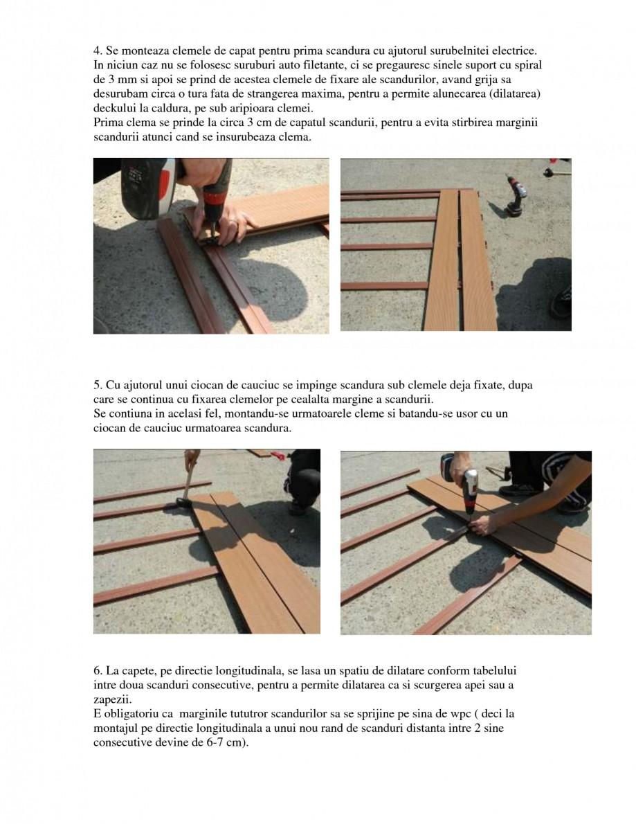 Pagina 2 - Montajul si intretinerea placilor din lemn WPC BENCOMP Instructiuni montaj, utilizare...