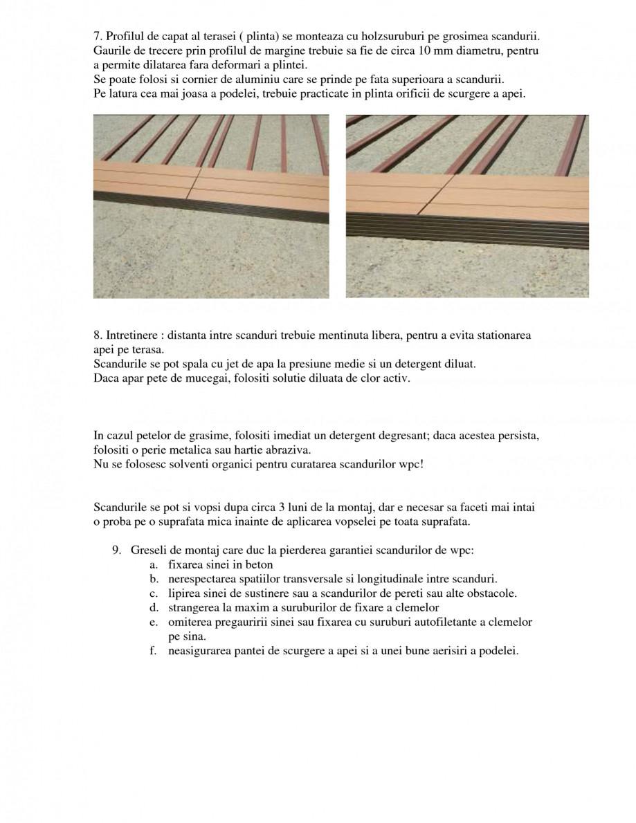Pagina 3 - Montajul si intretinerea placilor din lemn WPC BENCOMP Instructiuni montaj, utilizare...