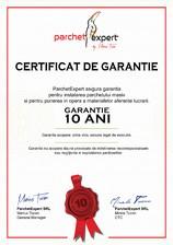 Certificat de garantie BAUWERK Parkett
